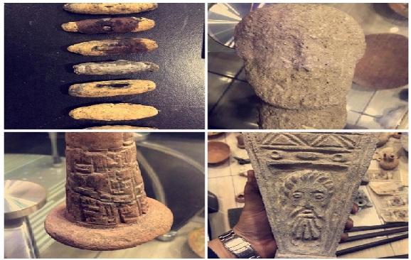 القبض على شخص بحوزته مجموعة من القطع الأثرية شمال العاصمة