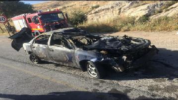 4 إصابات بحادث تدهور مركبة واحتراقها على شارع الأردن