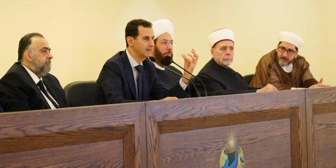قال ان الوضع السوري الآن افضل.. الاسد يؤكد أنه لا يمكن لإنسان يخون الوطن أن يكون مؤمناً صادقاً