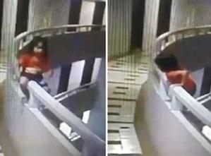 لانها تمشي وهي نائمة.. سقوط طفلة من الطابق 11 بفندق تايلاندي/ فيديو