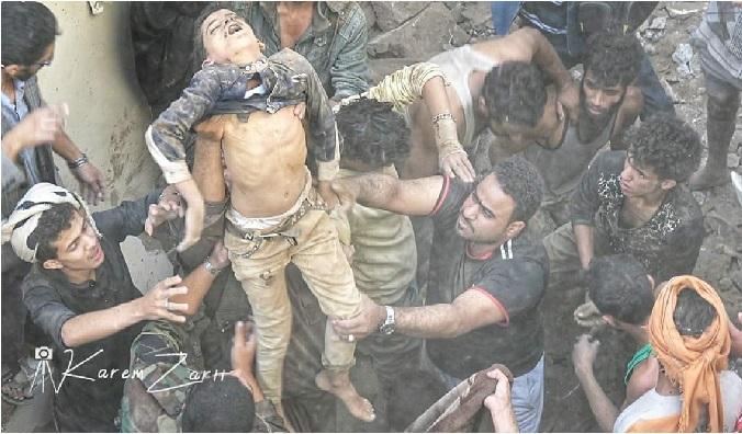 عدوان سعودي- اماراتي جوي يوقع مجزرة بشعة في صنعاء اليوم ويقتل عدداً من المدنيين بينهم 4 اطفال/ فيديو