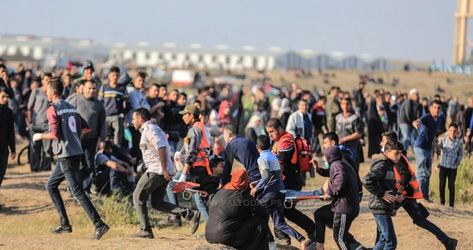 إصابة 16 مواطناً بالرصاص والاختناق اليوم في