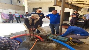 ضبط بئر مخالفة واعتداءات فادحة على المياه بمنطقة وادي السير