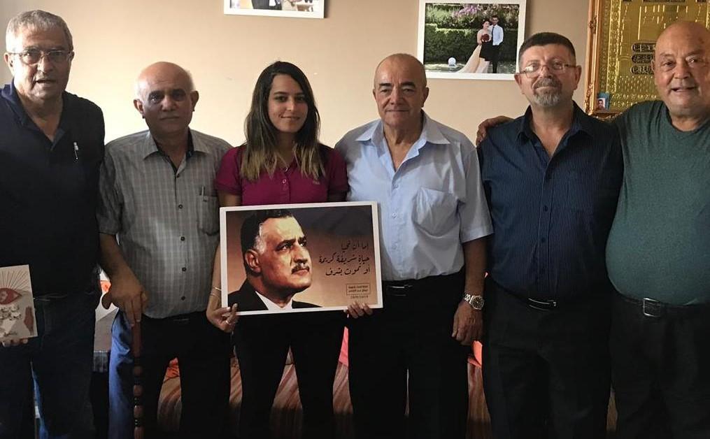 لجنة احياء مئوية عبد الناصر تقوم بزيارة تضامنية للطالبة تسنيم حسنين