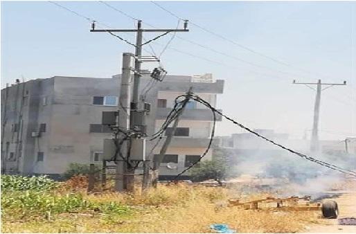كهرباء اربد تسارع لاصلاح عطب كاد يسبب كارثة وسط الاحياء السكنية