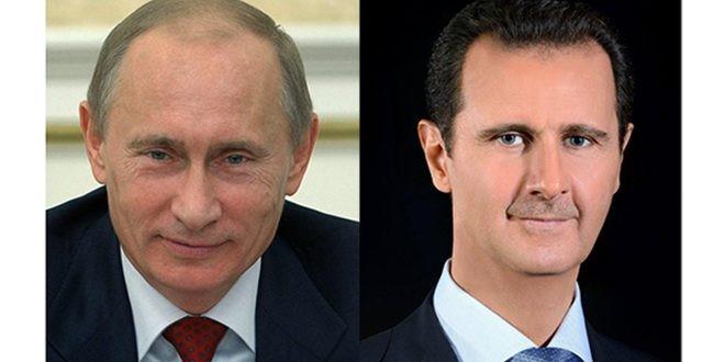 الأسد يتلقى التهاني بعيد الجلاء من رؤساء روسيا وبيلاروس والإمارات وإيران وأبخازيا وموريتانيا وملك ماليزيا وسلطان عُمان