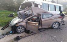 17 إصابة بحادث تصادم باص كوستر وحافلة في عجلون