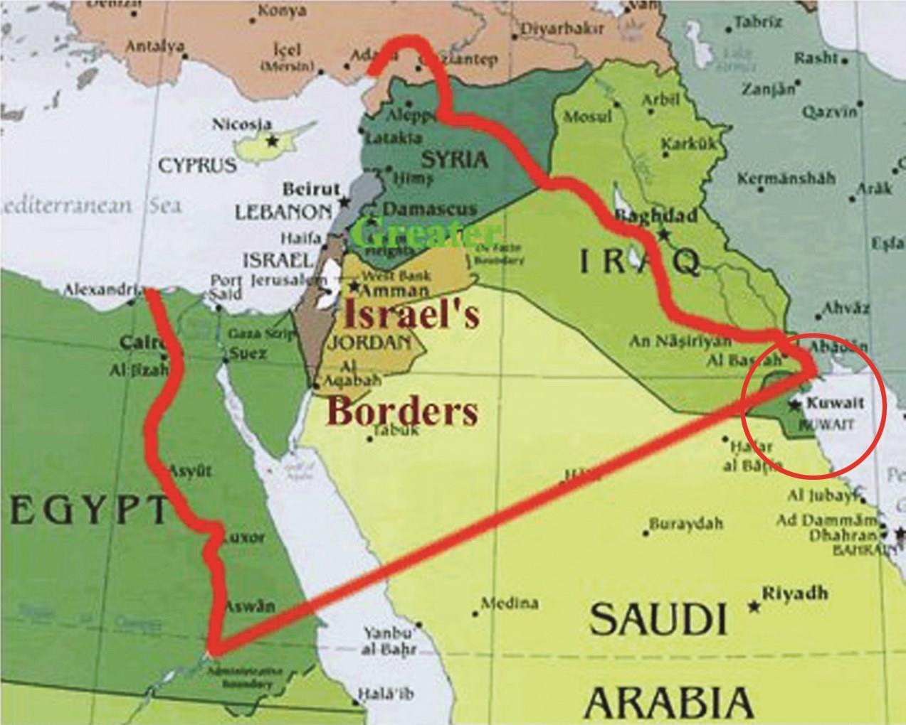 خريطة إسرائيل الكبرى