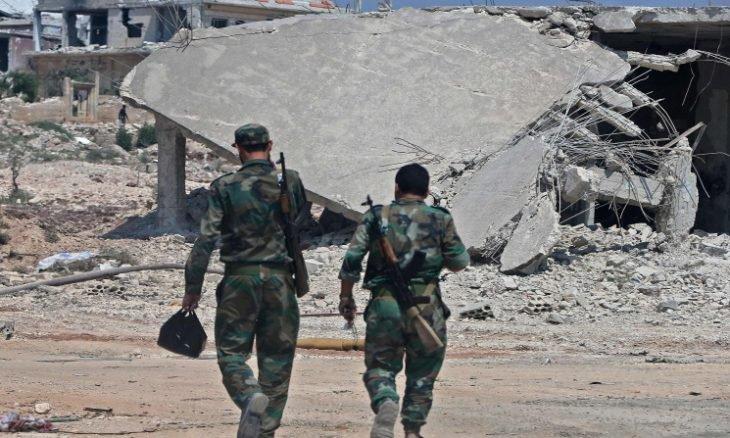 هروب الارهابيين من خان شيخون بعدما دخلها الجيش السوري ومنع وصول إمدادات عسكرية تركية لهم