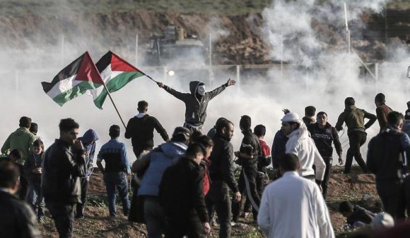74 إصابة برصاص الاحتلال خلال قمع فعاليات الأسبوع الـ 75 لمسيرات العودة شرقي قطاع غزة