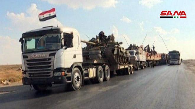 وحدات الجيش السوري تتابع عمليات انتشارها في مناطق الجزيرة لمواجة العدوان التركي / فيديو