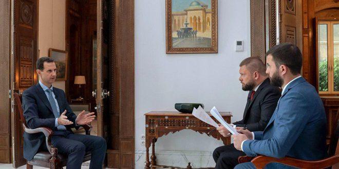 الأسد: الوجود الأمريكي في سورية سيولد مقاومة عسكرية تؤدي إلى خسائر بين الأمريكيين وخروجهم