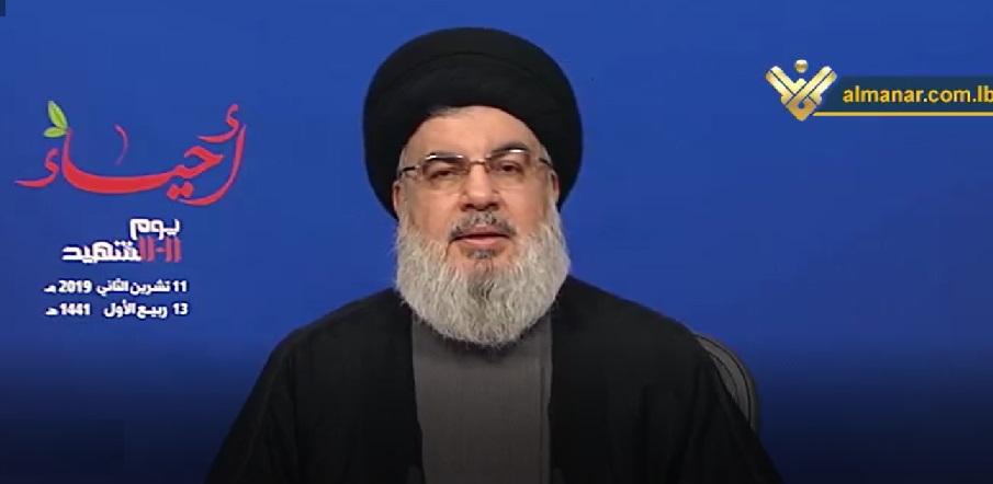 نصر الله يتعهد للقضاء برفع الغطاء عن اي مسؤول في حزب الله عليه شبهة فساد
