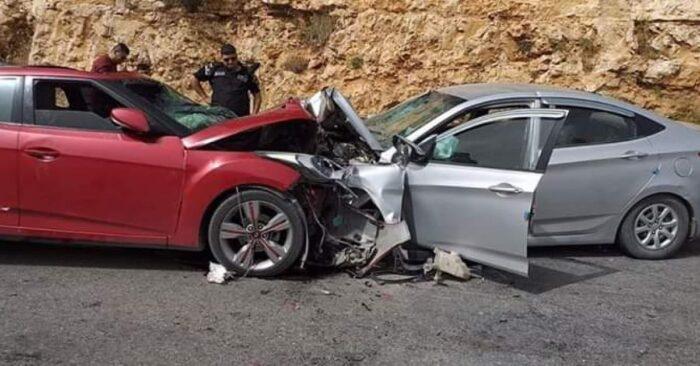 وفاة شابين إثر حادث تصادم مركبتين في منطقة الكرك