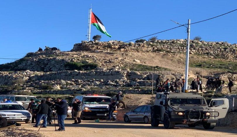 إصابة 70 فلسطينيا في مواجهات مع قوات الاحتلال جنوبي نابلس