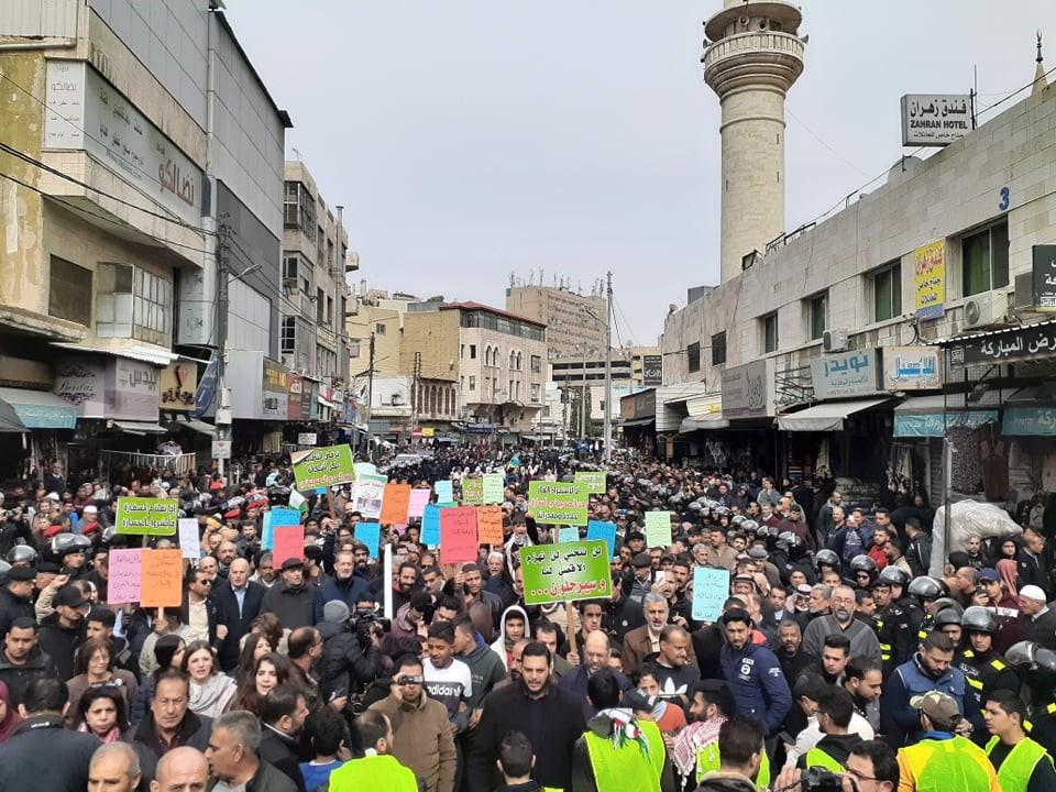 انطلاق مسيرة حاشدة اليوم من امام المسجد الحسيني وسط عمان تنديدا بصفقتي القرن والغاز