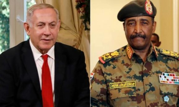 نتنياهو يتبجح: ما نقوم به هو تحقيق السلام من منطلق القوة، وسنرسل طحين قمح بخمسة ملايين دولار إلى السودان