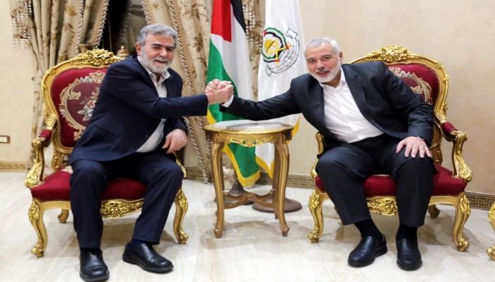 النخالة وهنية يستعرضان تطورات القضية الفلسطينية وتداعيات تشكيل الحكومة الاسرائيلية الجديدة