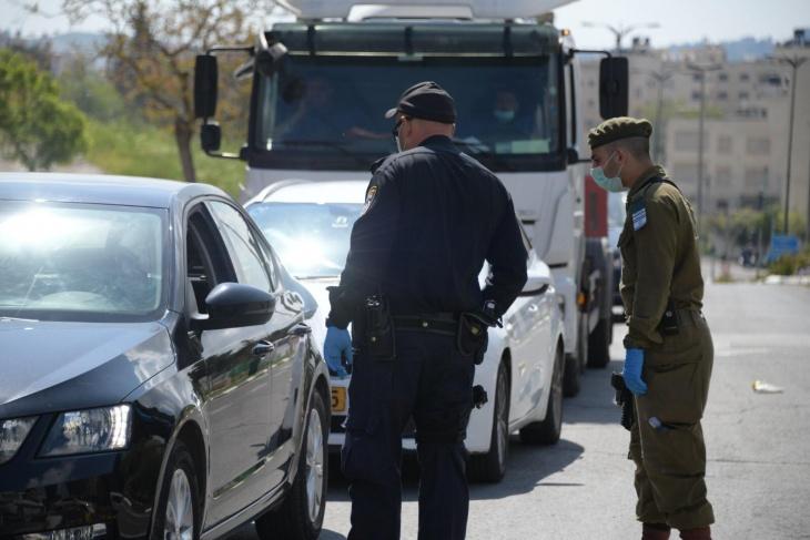 محاصرة قرية أم صفا عقب محاولة دهس شرطي اسرائيلي