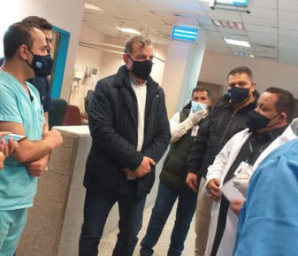 جابر يتفقد الوضع الصحي بالمفرق ويعلن ان فحوصات مخيم الزعتري مطمئنة