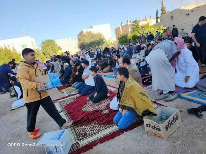 ضبط شخص  نظم صلاة العيد وألقى خطبتها في معان