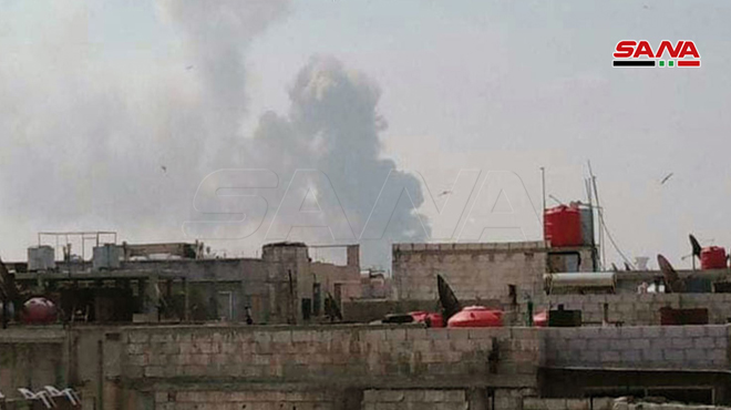 عدوان اسرائيلي على القنيطرة وانفجارات جراء خطأ بشري بمستودع للذخيرة في موقع عسكري بحمص/ فيديو