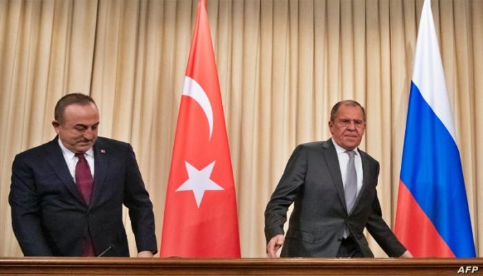 الغاء زيارة وزيري خارجية ودفاع روسيا الى تركيا، جراء تفاقم الخلافات بين البلدين حول ليبيا وسوريا