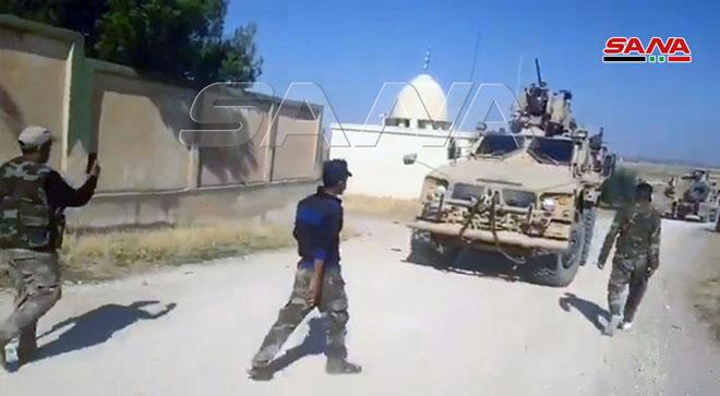 حاجز للجيش السوري يعترض مدرعات للاحتلال الأمريكي في تل تمر بريف الحسكة ويجبرها على العودة/ فيديو