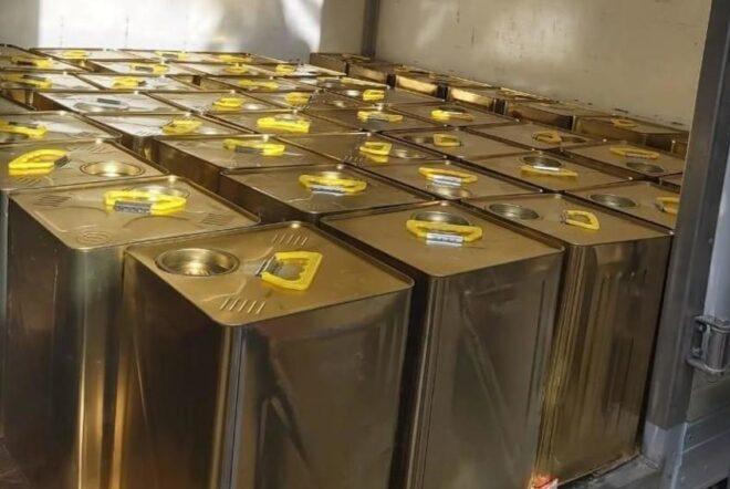 مؤسسة الغذاء والدواء تضبط 85 تنكة زيت زيتون مغشوش