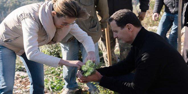 الرئيس الأسد وعقيلته في مرحلة التعافي من الكورونا