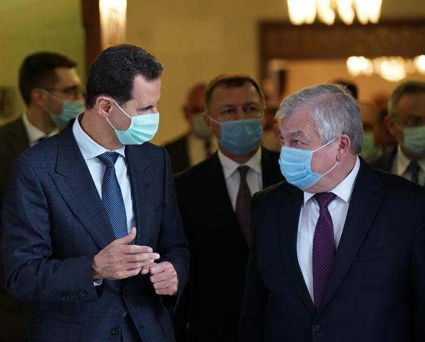 الأسد يبحث مع مبعوث بوتين تكثيف السعي الثنائي لتخفيف آثار العقوبات الغربية الجائرة على سوريا تمهيدا لتجاوزها