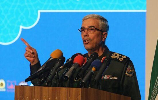 رئيس اركان الجيش الايراني: لن تنعم إسرائيل بالهدوء ما لم توقف استفزازاتها المتكررة باستهداف الأراضي السورية