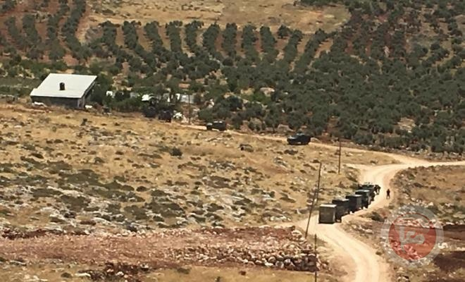 انسحاب قوات الاحتلال من محيط عقربا بعد فشلها في العثور على