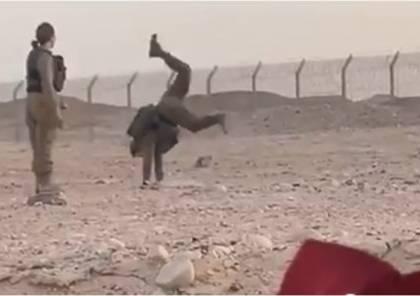 رقص عن بُعد بين مجندات إسرائيل وجنود السيسي/ فيديو