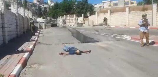 استشهاد شاب برصاص العدو قرب سوق الخضار القديم بالخليل