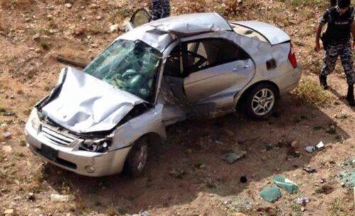 وفاتان جراء حادث تدهور على طريق اربد الزرقاء