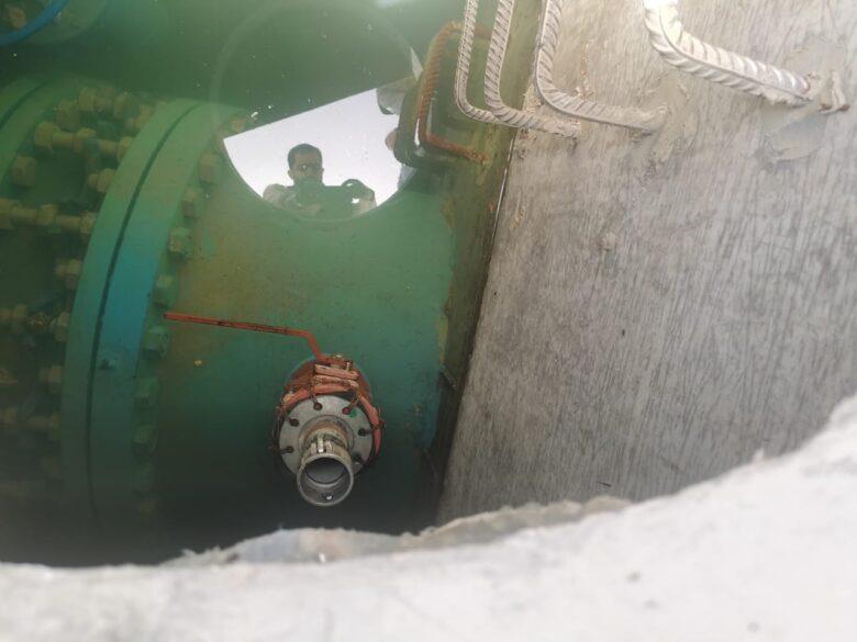 وزارة المياه تضبط اعتداء على ناقل وادي العرب 2