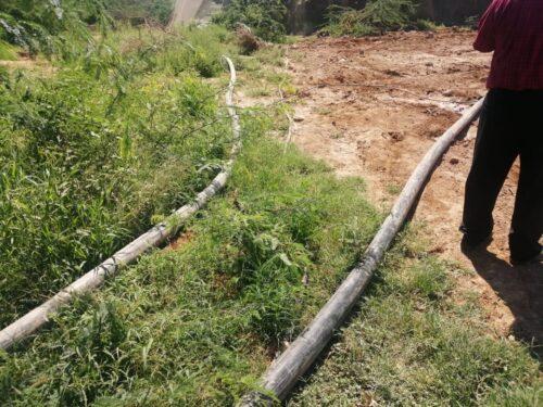 وزارة المياه تضبط اعتداءات على خط ناقل مياه الزارة ماعين