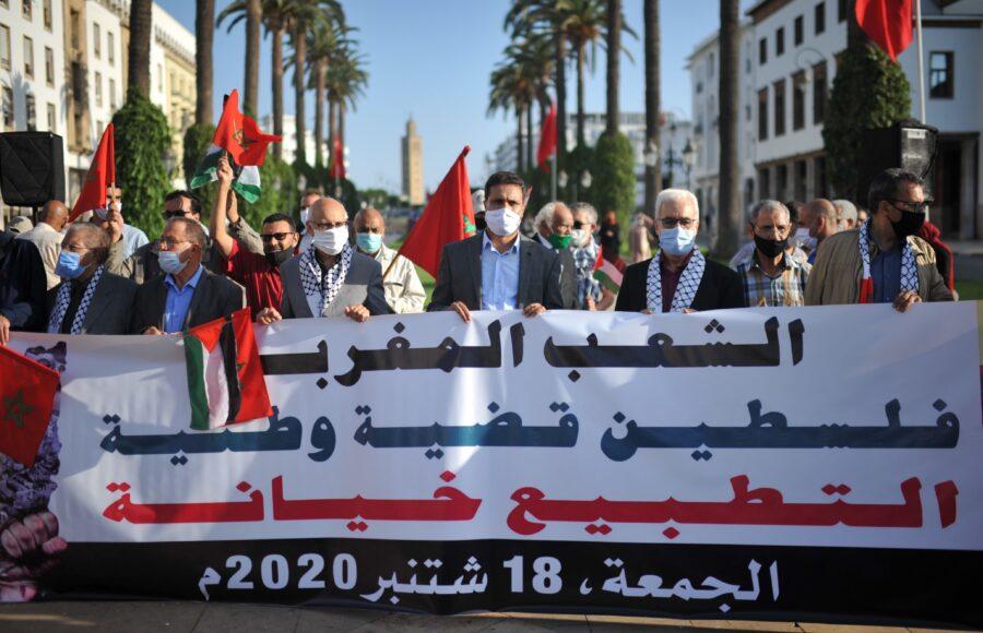يحدث في المغرب.. الحكم يختار التطبيع مع الصهاينة، بينما الشعب الاصيل يرابط في خندق فلسطين