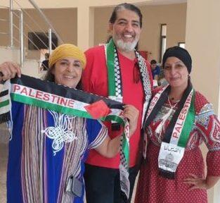 الفنانة التشكيلية الفلسطينية أحلام بهنسي تشارك بملتقى الفن في العقبة