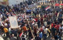 وقفة احتجاجية في قرية كفر نايا بريف حلب الشمالي مناهضة للاحتلال التركي وتصرفات المسلحين الموالين له